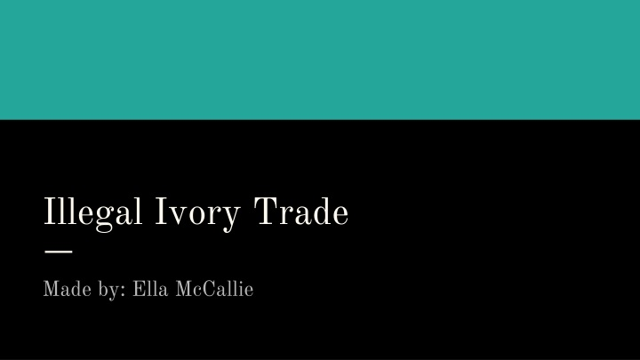 illegal ivory trade n.