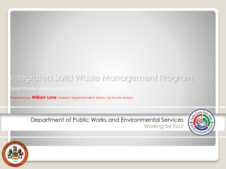 integrated solid waste management program n.