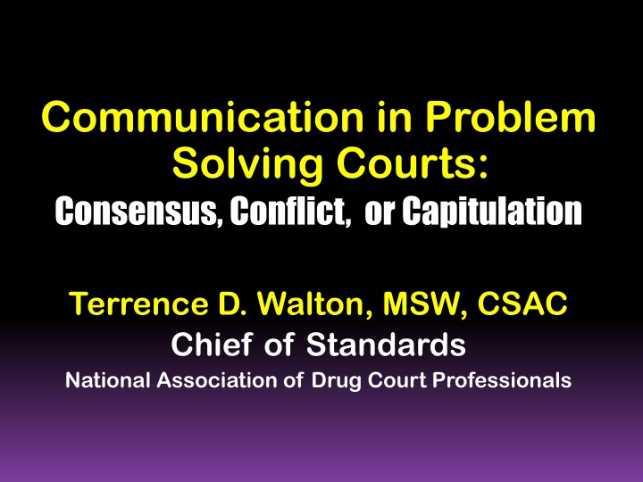 communication in problem solving courts consensus n.