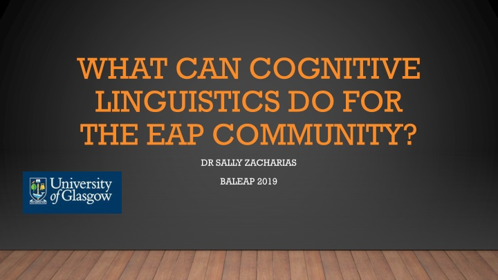 what can cognitive linguistics do for the eap community n.