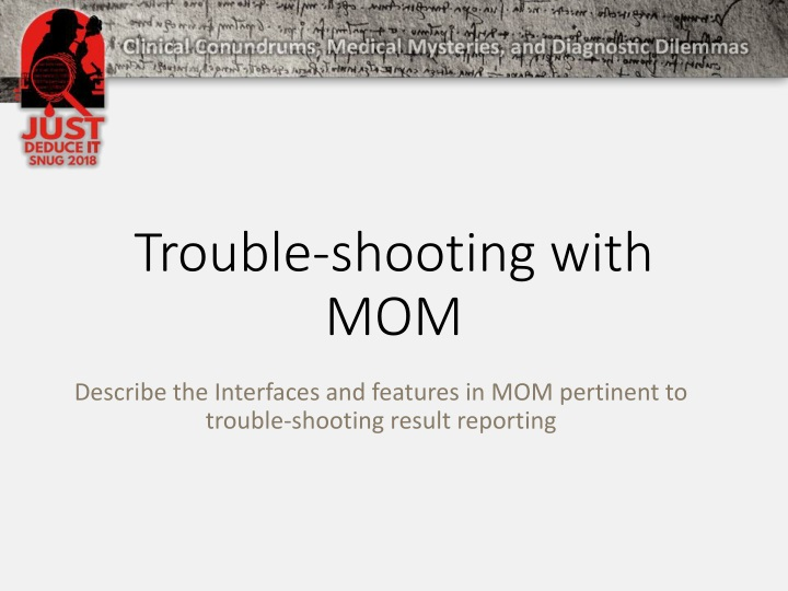 trouble shooting with mom n.