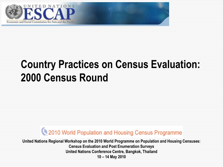 country practices on census evaluation 2000 census round n.