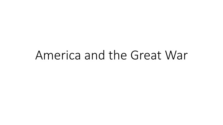america and the great war n.
