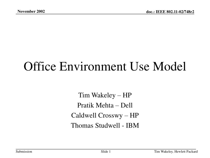 office environment use model n.