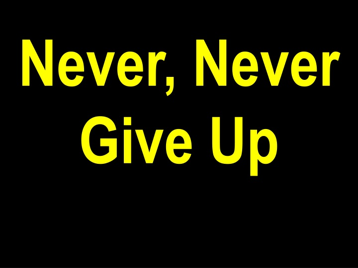 never never give up n.