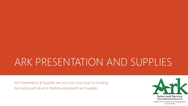 ark presentation and supplies n.