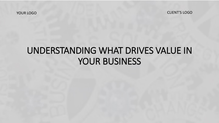 understanding what drives value in your business n.