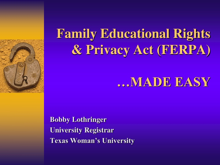 family educational rights privacy act ferpa made easy n.