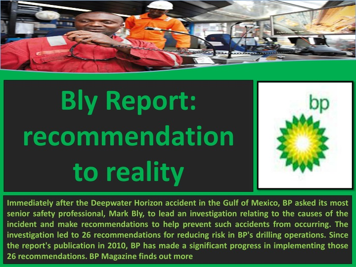 bly report recommendation to reality n.