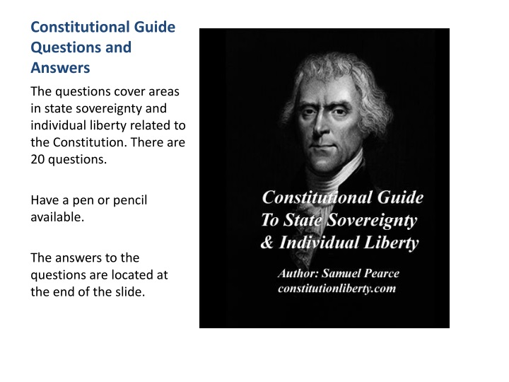 constitutional guide questions and answers n.