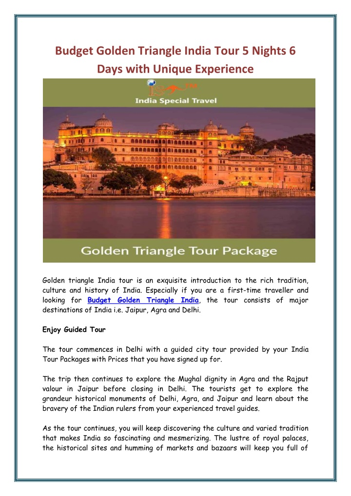 budget golden triangle india tour 5 nights 6 days n.