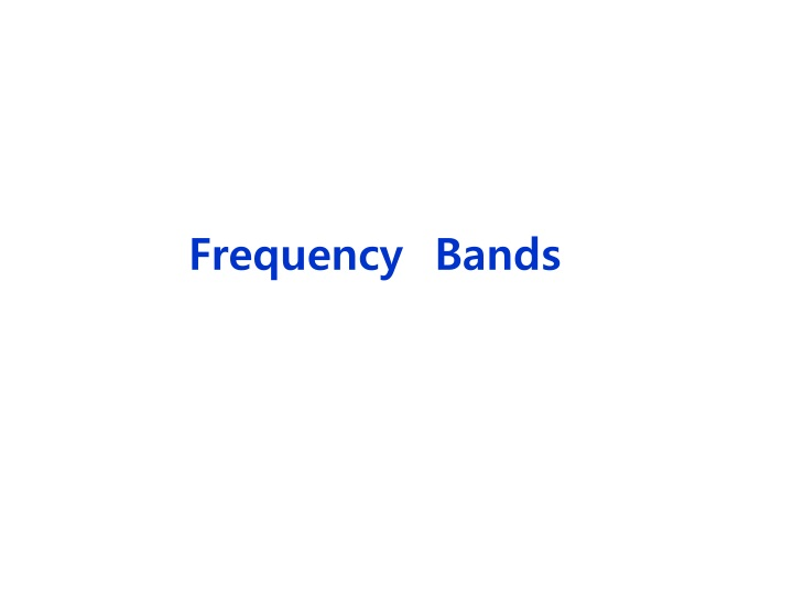 frequency bands n.