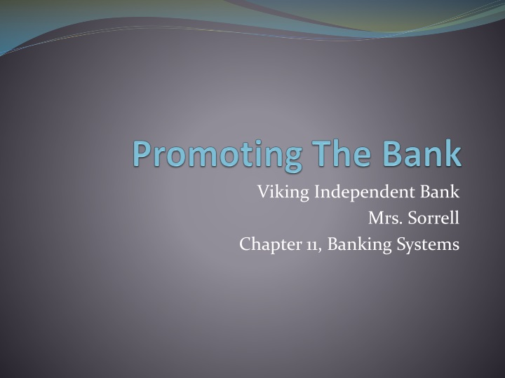 promoting the bank n.