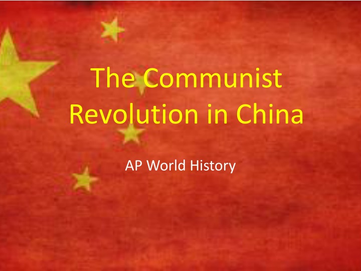 the communist revolution in china n.