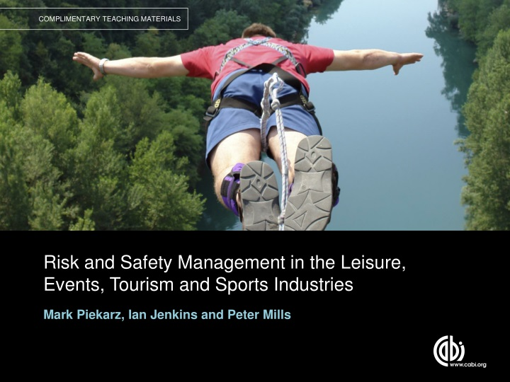 risk and safety management in the leisure events tourism and sports industries n.