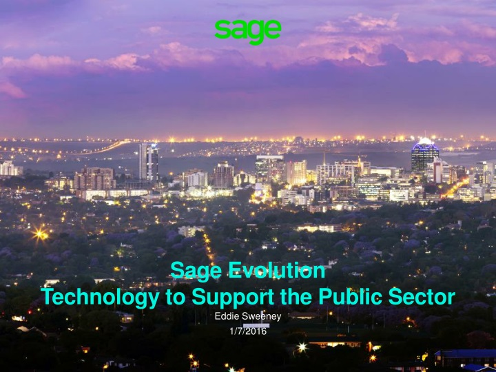 sage evolution technology to support the public sector n.