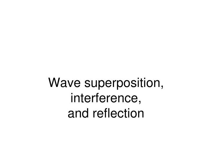 wave superposition interference and reflection n.