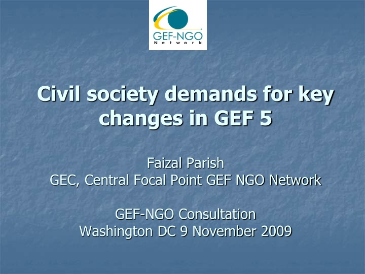 civil society demands for key changes n.