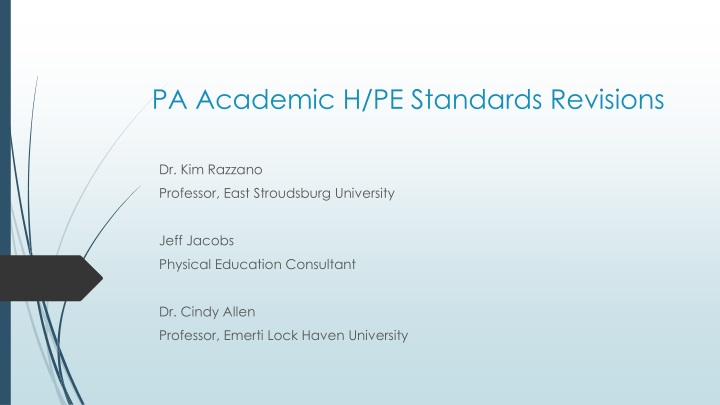 pa academic h pe standards revisions n.