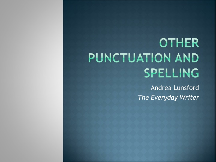 other punctuation and spelling n.