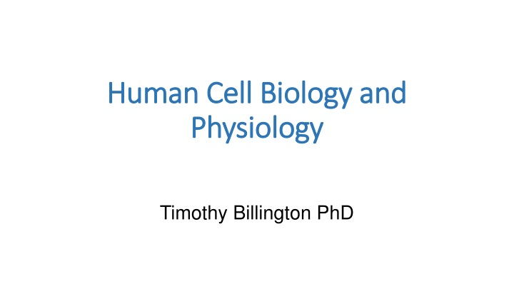 human cell biology and physiology n.