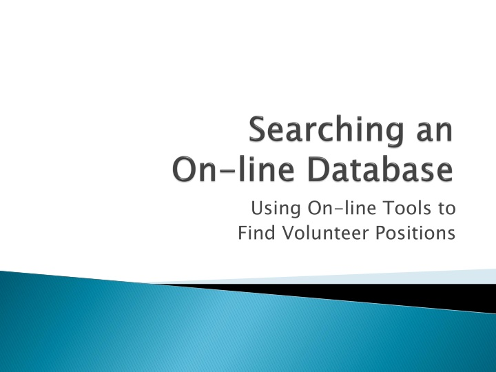 searching an on line database n.