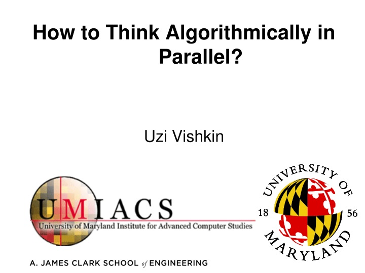 how to think algorithmically in parallel n.