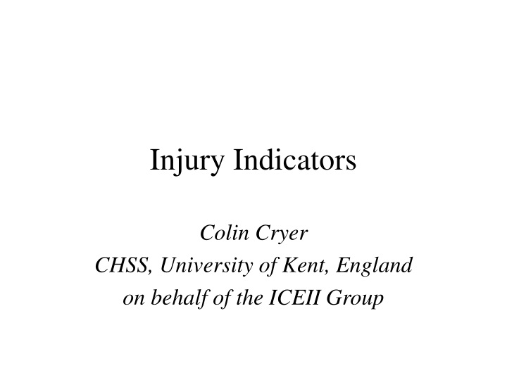 injury indicators n.