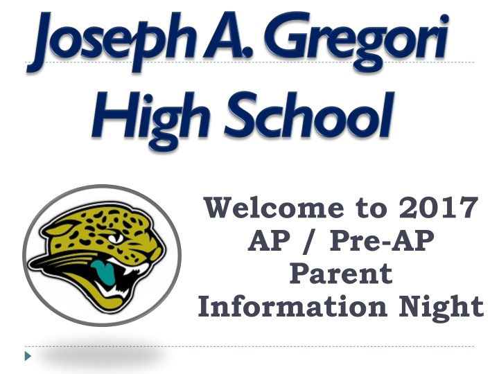 welcome to 2017 ap pre ap parent information night n.