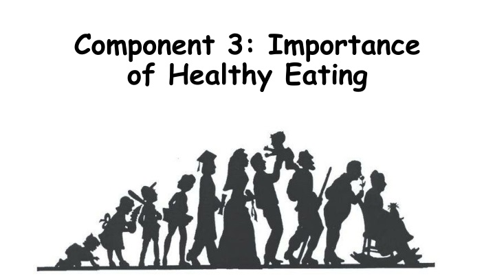component 3 importance of healthy eating n.