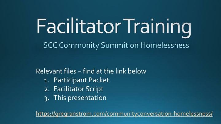 scc community summit on homelessness n.