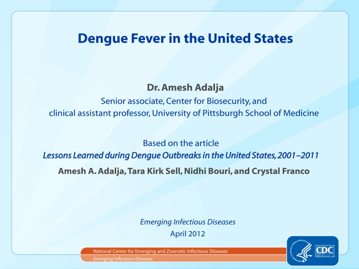 dengue fever in the united states n.