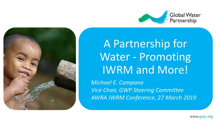 a partnership for water promoting iwrm and more n.