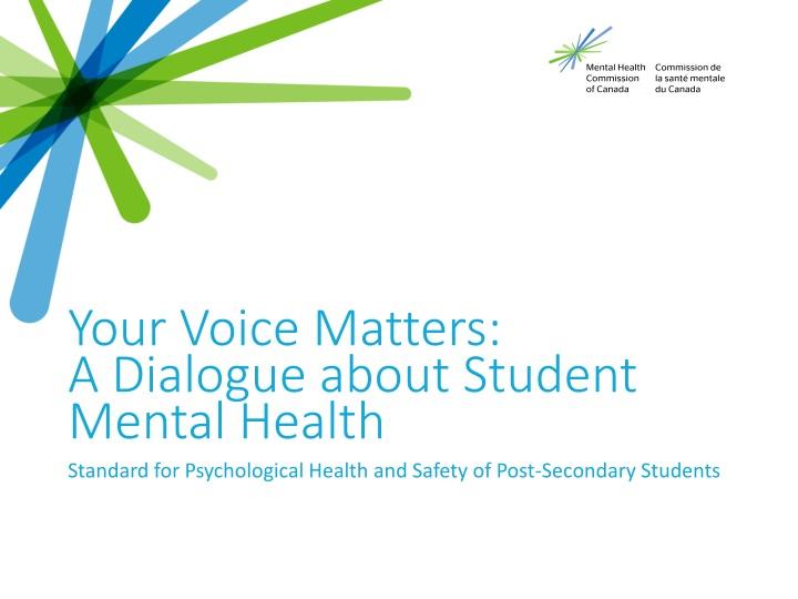your voice matters a dialogue about student mental health n.