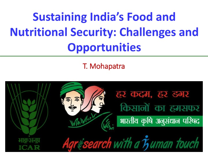 sustaining india s food and nutritional security n.