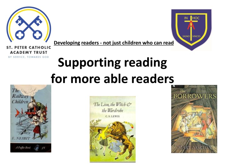 supporting reading for more able readers n.