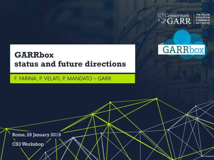 garrbox status and future directions n.