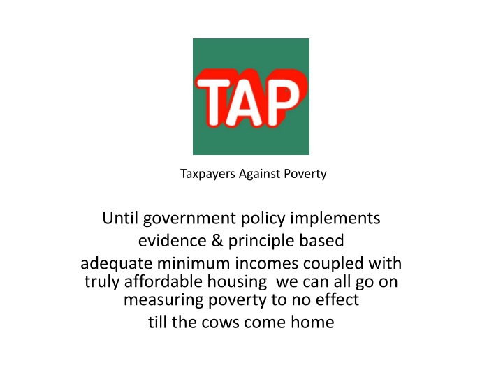 taxpayers against poverty until government policy n.