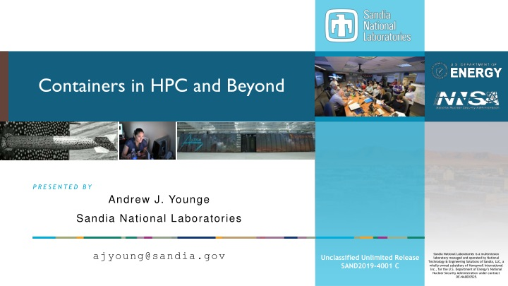containers in hpc and beyond n.