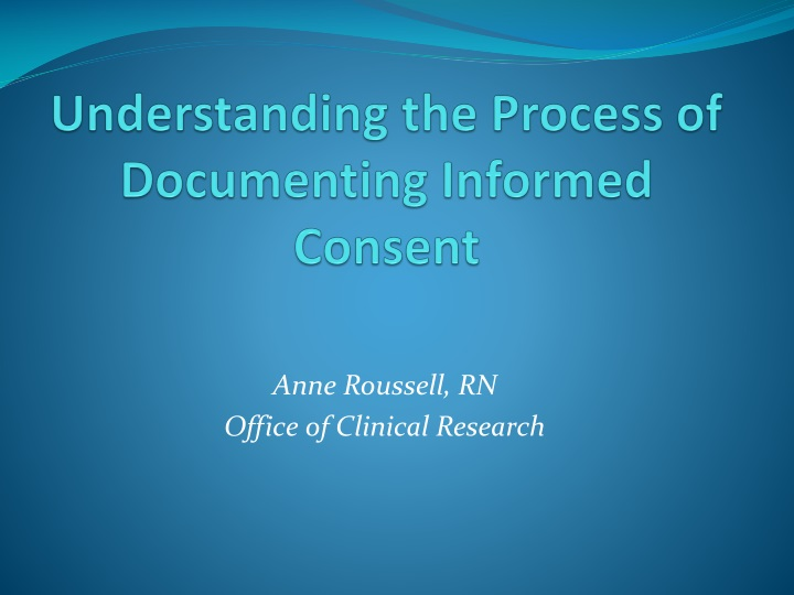 understanding the process of documenting informed consent n.