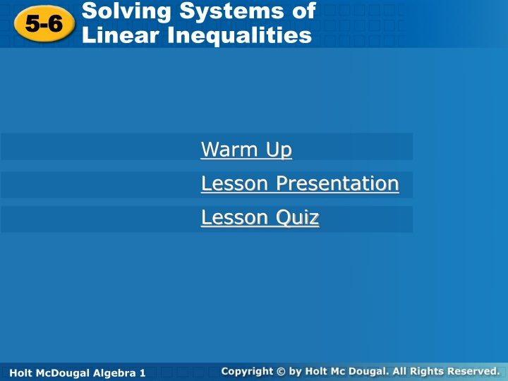 solving systems of linear inequalities n.