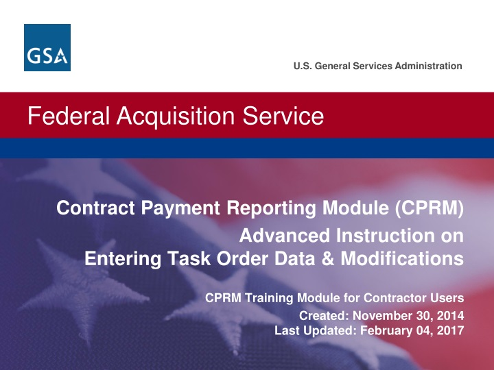 contract payment reporting module cprm advanced n.