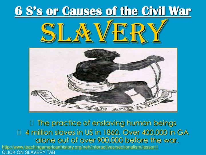 6 s s or causes of the civil war n.