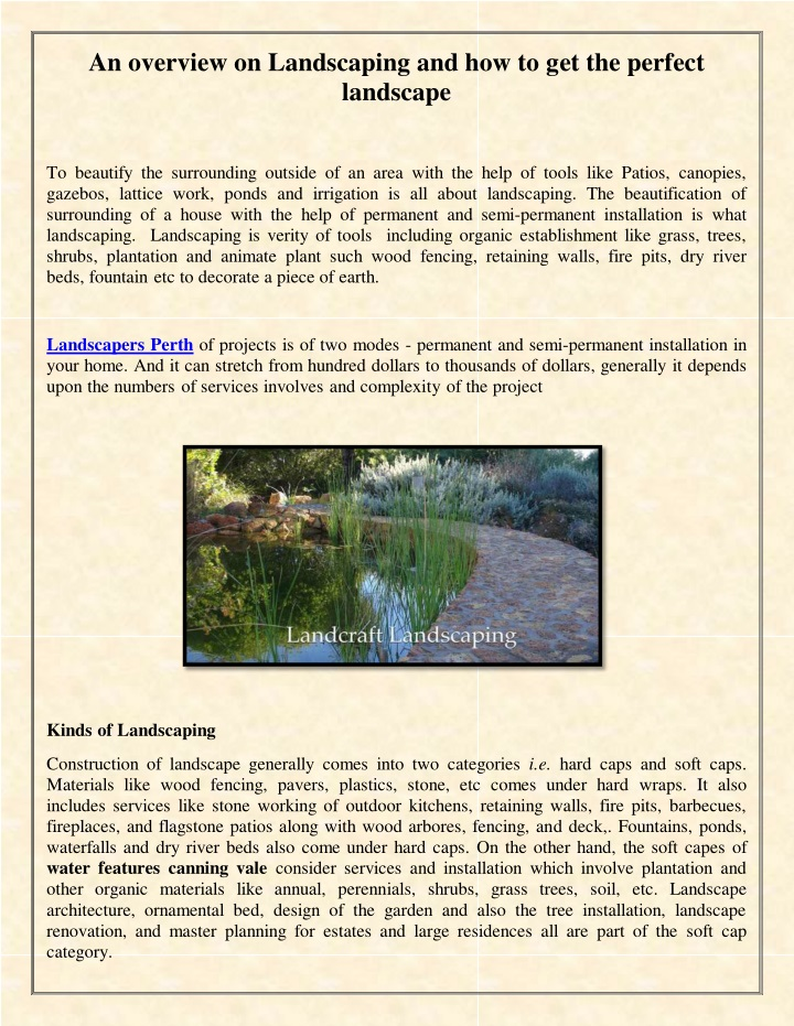 an overview on landscaping n.