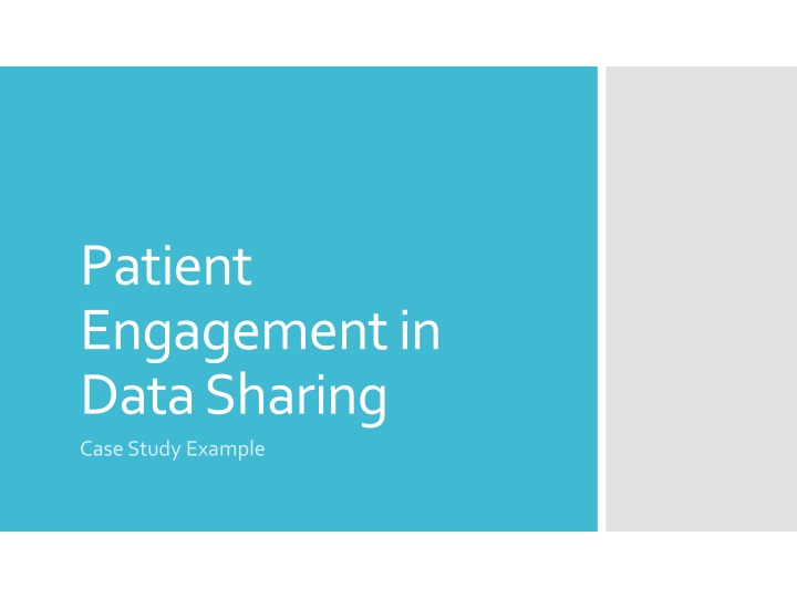 patient engagement in data sharing n.