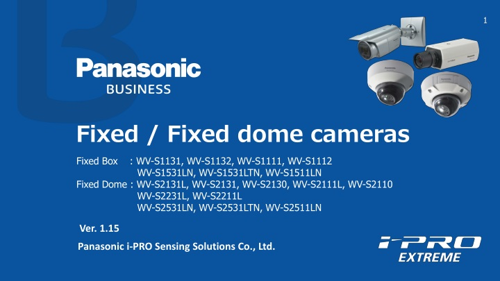 fixed fixed dome cameras n.