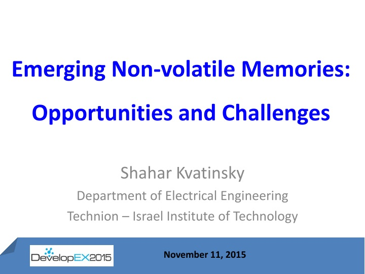 emerging non volatile memories opportunities and challenges n.