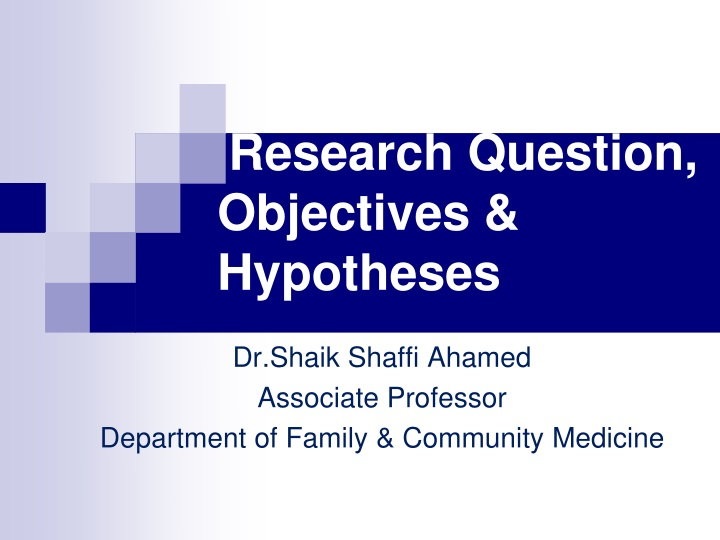 research question objectives hypotheses n.