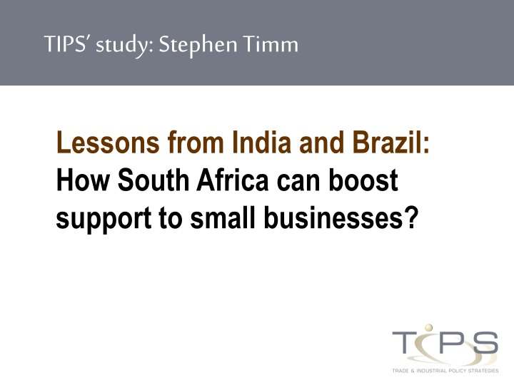 lessons from india and brazil how south africa can boost support to small businesses n.
