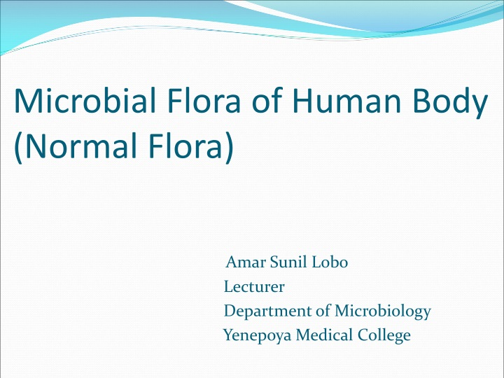 microbial flora of human body normal flora n.